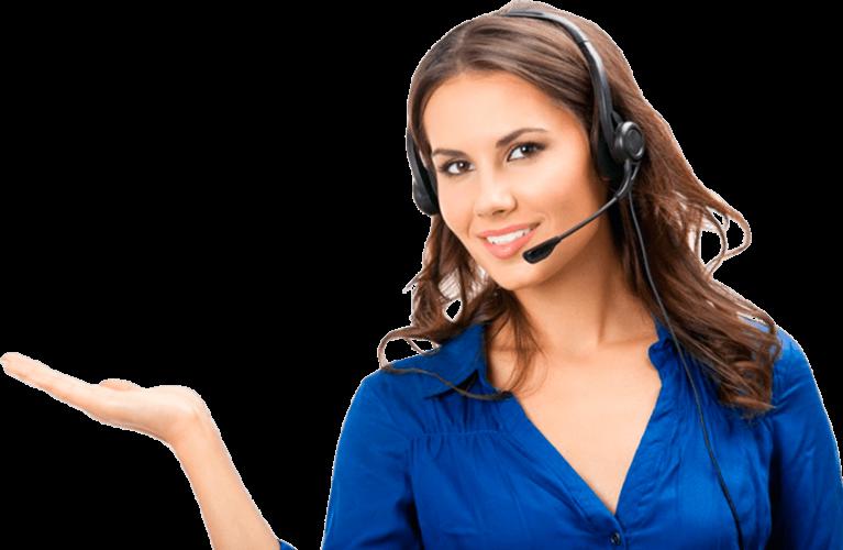 Empleado de atención al cliente para solicitudes de presupuesto, preguntas y más información